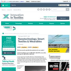 Nanotechnology, Smart Textiles & Wearables