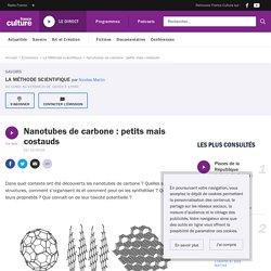 FRANCE CULTURE 02/10/19 LA METHODE SCIENTIFIQUE - Nanotubes de carbone : petits mais costauds