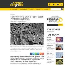 Nanowire 'Inks' Enable Paper-Based Printable Electronics