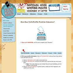 How Does NaNoWriMo Work for Educators?