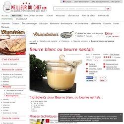 Beurre blanc ou beurre nantais - Notre recette avec photos