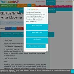 L'Edit de Nantes - Exercices - Les temps Modernes - Cm1 - Cycle3