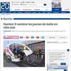 Nantes: Il ramène les jeunes de boîte en vélo-taxi