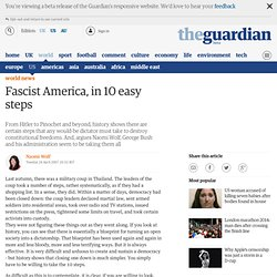 Naomi Wolf: Fascist America, in 10 easy steps | World news