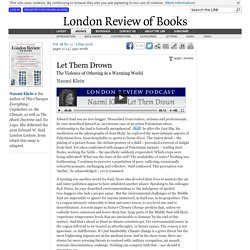 Naomi Klein · Let Them Drown · LRB 2 June 2016