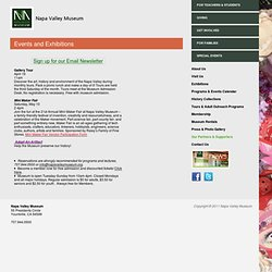 Napa Valley Museum | Art, History and Environment