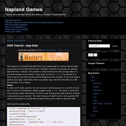 Napland Games: AGK Tutorial - App Data