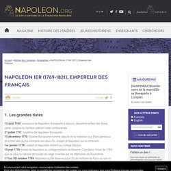 NAPOLEON Ier (1769-1821), Empereur - napoleon.org