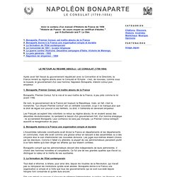 Napoléon Bonaparte - Le Consulat (1799-1804) : Consul, Concordat, Marengo, Autriche