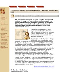 Code Civil, Code Napoléon, 1804-2004 : histoire du Code Napoléon, éclairages sur le Code Napoléon - Aurore Rubio, Patrice Sawicki