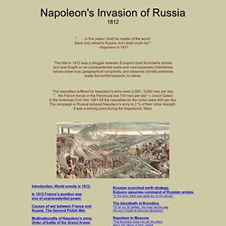 Napoleon's Invasion of Russia 1812 : Clausewitz : Strategy :