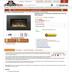 Napoleon WHVF31 Plasmafire Wall-Mounted Vent-Free Gas Fireplace