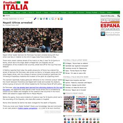 Napoli Ultras arrested
