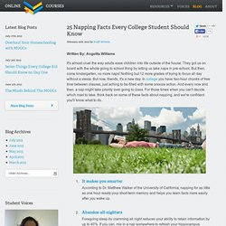 25 Napping Facts Every College Student Should Know - Online College Courses - StumbleUpon