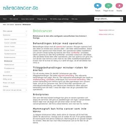 Nära cancer - Bröstcancer