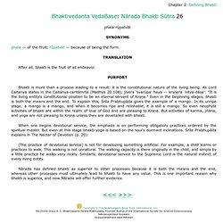 Narada Bhakti Sutra Narada Bhakti Sutra Chapter 2 Verse 26