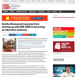Geetha Narayanan's journey from starting up with INR 1000 to becoming an education visionary