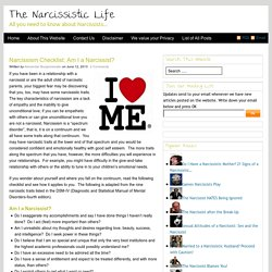Narcissism Checklist: Am I a Narcissist?
