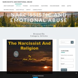 Articles – Narcissistic and Emotional Abuse