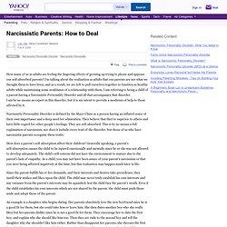 Narcissistic Parents: How to Deal