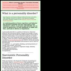 Narcissistic Personality Disorder (NPD) : DSM-IV Diagnostic Criteria