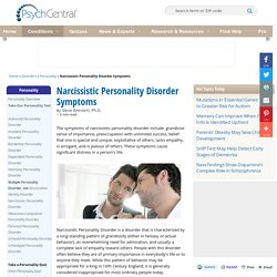 Narcissistic Personality Disorder - Psych Central