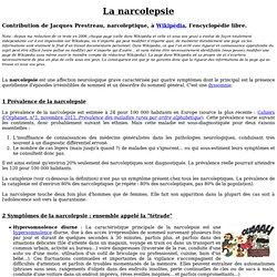Narcolepsie - Site web de Jacques Prestreau