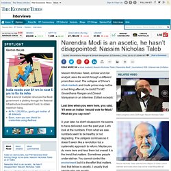 Narendra Modi is an ascetic, he hasn't disappointed: Nassim Nicholas Taleb