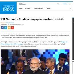 PM Narendra Modi in Singapore on June 1, 2018