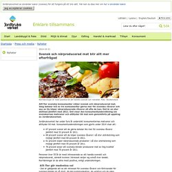 Svensk och närproducerad mat blir allt mer efterfrågad