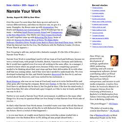 Narrate Your Work
