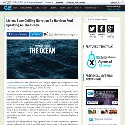 Listen: Bone Chilling Narration By Harrison Ford Speaking As The Ocean