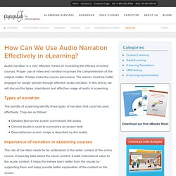 How Can We Use Audio Narration Effectively in eLearning?