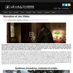 Narration et Jeu Vidéo.
