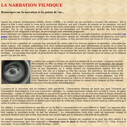 Narration et points de vue