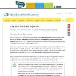 Narration: Preterit vs. Imperfect - Spanish Grammar in Context
