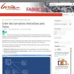 Créer des narrations interactives avec Twine – Fabrica
