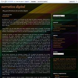 narrativa digital: inmersión