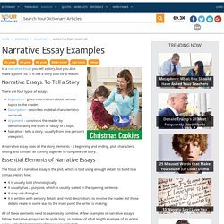 narrative college essay homework help