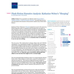 "Flash Fiction Narrative Analysis: Katharine Weber's ""Sleeping"" : FlashFiction.Net"