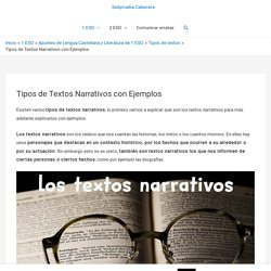 Tipos de Textos Narrativos con Ejemplos □ SeAprueba.Com
