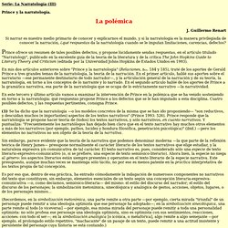 Serie: La Narratología (III) - Prince y la narratología, por J. Guillermo Renart