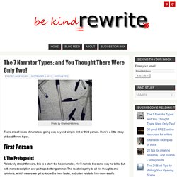 The 7 Narrator Types: and You Thought There Were Only Two! - bekindrewrite