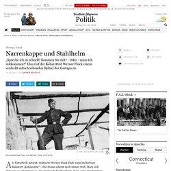 Werner Finck: Narrenkappe und Stahlhelm - Politische Bücher