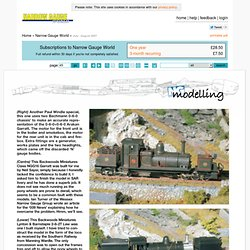 Narrow Gauge World (July / August 2007)