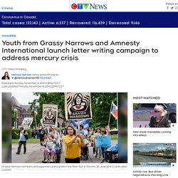 Youth from Grassy Narrows and Amnesty International launch letter writing campaign to address mercury crisis