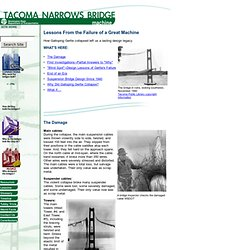 Tacoma Narrows Bridge: Lessons From the Failure of a Great Machine