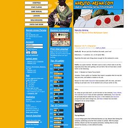 Naruto Arena - Your #1 Naruto Online Multiplayer Game