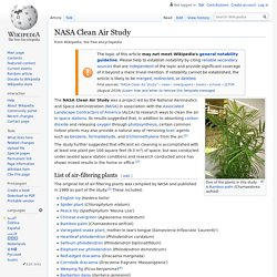 NASA Clean Air Study