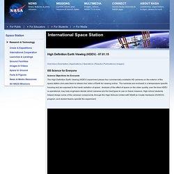 La Terre en direct vue de l'ISS